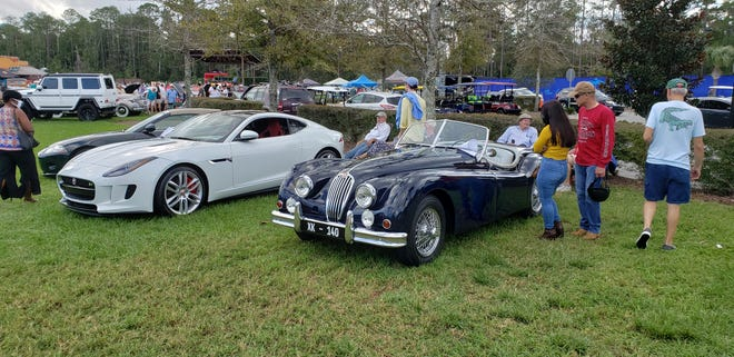 Classic and new Jaguars at the recent Ponte Vedra car show.