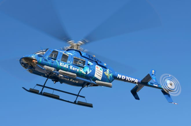 The new Kids Kare helicopter from Wolfson Children's Hospital takes flight. it's the hospital's first dedicated just to sick children.