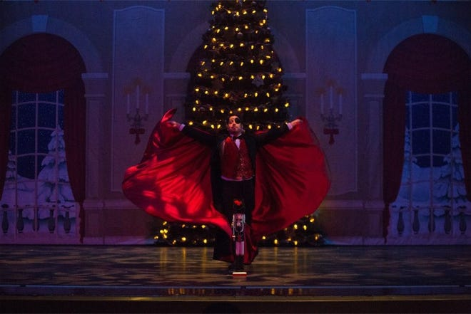 Drosselmeyer presents the Nutcracker in this Ballet Lubbock file photo. Due to the COVID-19 pandemic, this year's performance can be seen on the big screen at Stars and Stripes Drive-in, or streamed right to your home.