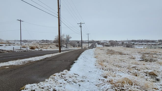 10th St. near Arkansas Valley Regional Medical Center overlooks a snow-blanketed southwest La Junta. The scene likely won't last long if the National Weather Service Pueblo office's forecast of sunny skies through Sunday is accurate.