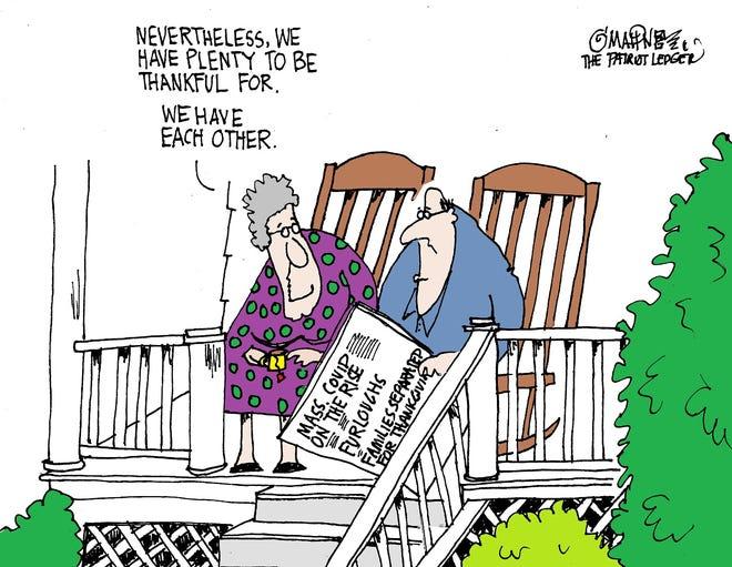 Joe O'Mahoney cartoon about Thanksgiving