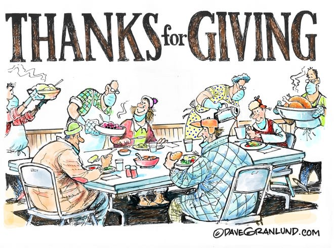 Dave Granlund cartoon about Thanksgiving