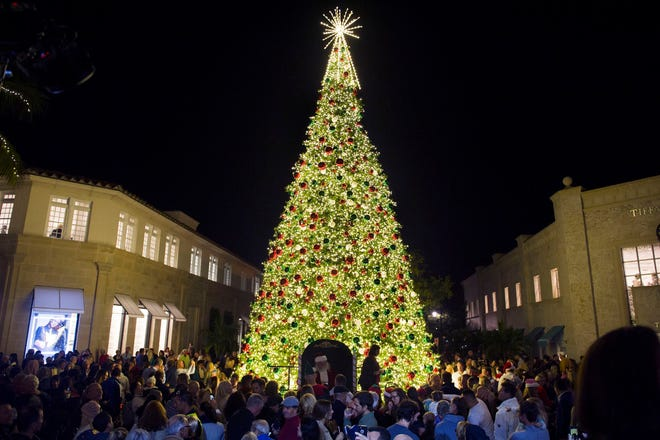 Hundreds turned out to enjoy the annual parade and Christmas Tree Lighting on Worth Avenue last Decemberh. This year's event will be virtual because of the coronavirus pandemic.