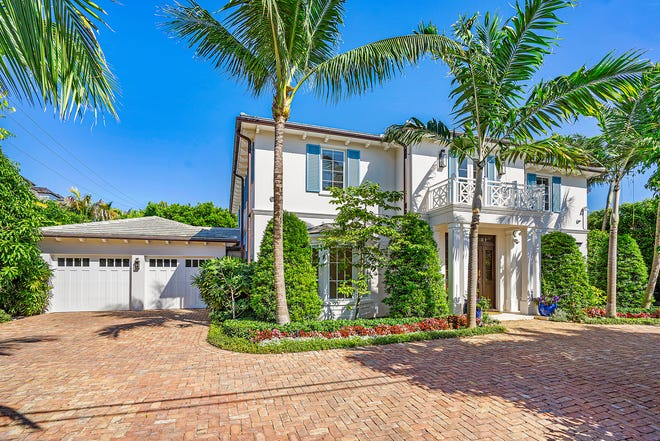 Built in 2017, a four-bedroom house at 1233 N. Ocean Way in Palm Beach has sold for $7 million, the price recorded this last week with the deed.