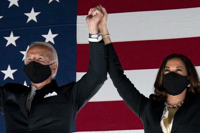 (From left to right) President-elect  Joe Biden and Vice President-elect Kamala Harris. (AP Photo/Andrew Harnik)