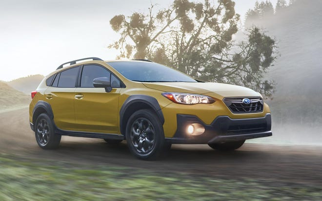 Most notable of changes is the 2021 Subaru Crosstrek Sport's new 2.5-liter horizontally opposed four cylinder engine, which generates 182 horsepower and 176 pound-feet of torque.
