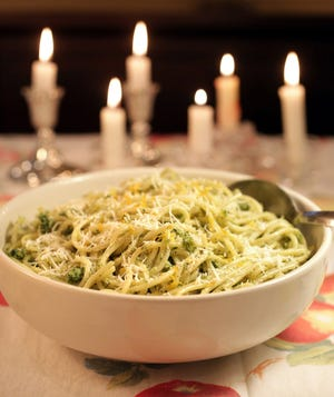 Nutty Pasta  is elegant and offers a break from tomatoes. It isn't even Italian but rather a French dish served most often in Provence.