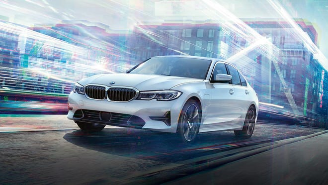 If you don't bother to charge it, the 2021 BMW 330e PHEV's city/highway/combined fuel consumption on mainly gasoline power comes to 25/38/28 miles to the gallon.