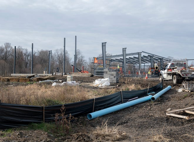 Construction on the Streetsboro Service Garage, located at the Public Service Department on S.R. 303.