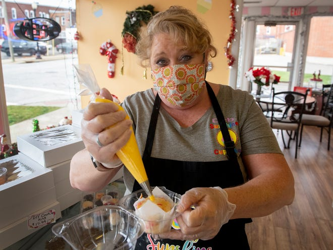 Deb McCurry, owner of Sunshine Cupcakes Etc., will have cupcake decorating kits to-go during Midnight Madness Friday evening.