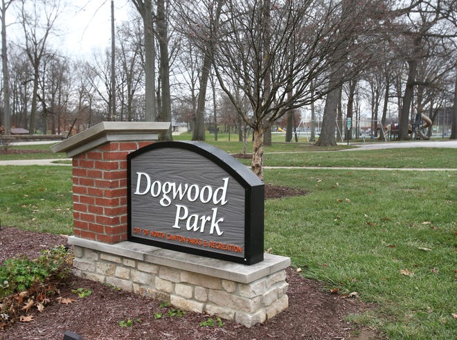 Dogwood Park is shown in North Canton on Tuesday, Nov. 24, 2020. The city is planning a $1.5 million overhaul of the park including a new performing arts pavilion and an inclusive playground designed for kids of all ages and abilities to play together.