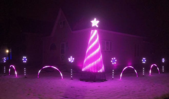 Christmas decorations at Jaime Hernandez home