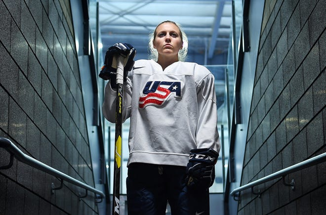 Kendall Coyne Schofield has won two medals at the Olympics as a member of the U.S. women's hockey team.