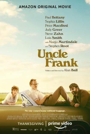 "The theatrical poster for Amazon Studio's ""Uncle Frank,"" which shot in Wilmington in 2019."