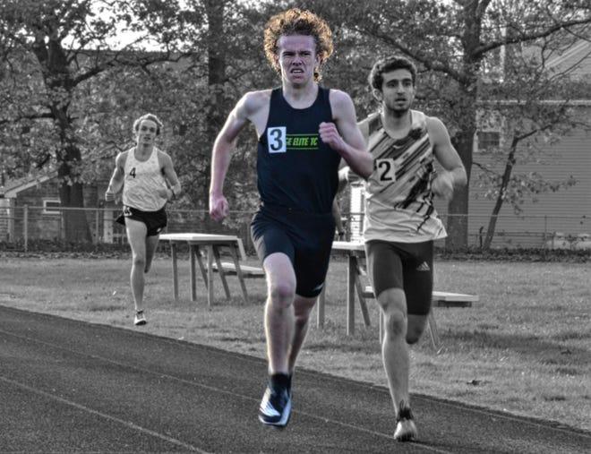 Northbridge freshman Marcus Reilly runs an age group world record mile at Cushman Park in Fairhaven on Nov. 7.