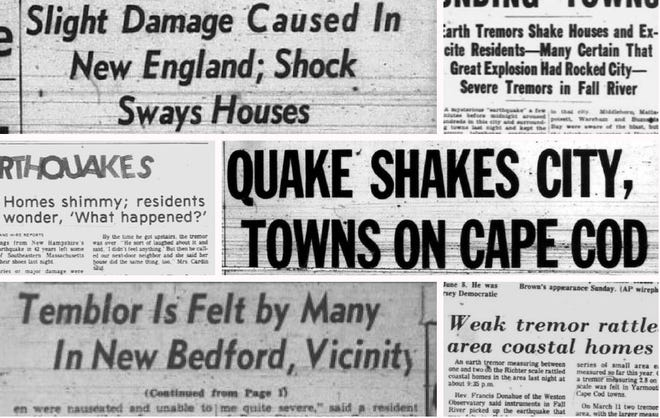 Standard-Times and Morning Mercury headlines that ran from the 1930s to 1980s.