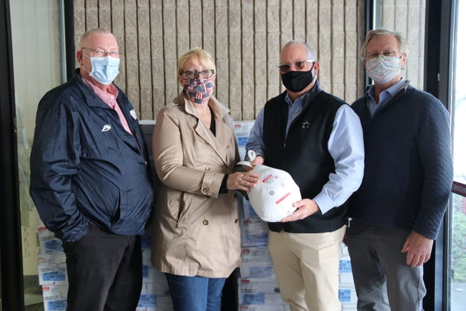 Pictured, from left, are Montville Mayor Ronald McDaniel, State Sen. Cathy Osten, Mohegan Tribal Chairman James Gessner and State Sen. Paul Formica.