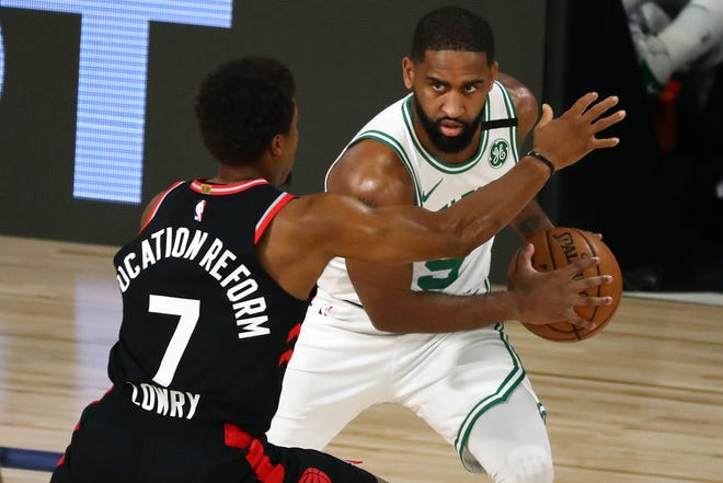 Brad Wanamaker (9) averaged 19.3 minutes over 71 games for the Celtics in 2019-20.
