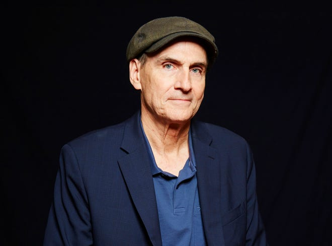 """Singer-songwriter James Taylor appears during a portrait session in New York in 2015.  Taylor released """"American Standard"""" in February and on Friday offered three ones that never made the album."""