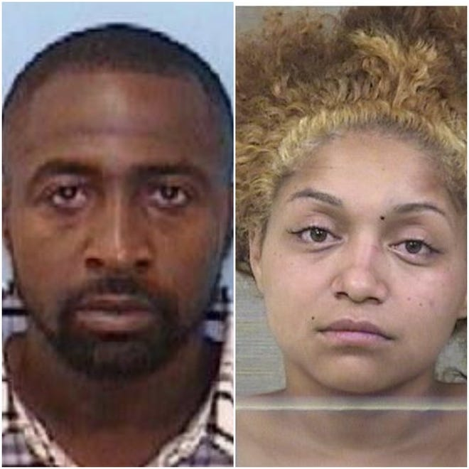 Jamar Raynique Griffin Sr. and Brianna Morris, of Cameron in Harnett County, were arguing about custodywhen she put their infant, in a car seat,in the path of a vehicle her father was driving, according to the Harnett County Sheriff's Office.