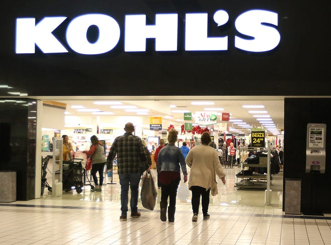 Black Friday shoppers enter Kohl's at the New Towne Mall While doing some Thanksgiving Day shopping in 2019.