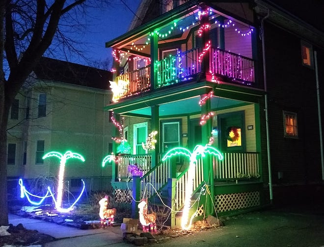 This Somerville house at 75 Lexington Ave. went all out decorating in 2019.