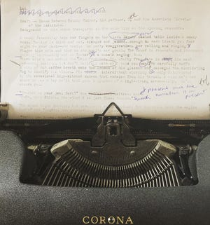 Sarkisian wrote the original manuscript of 'The Institute' on his typewriter.
