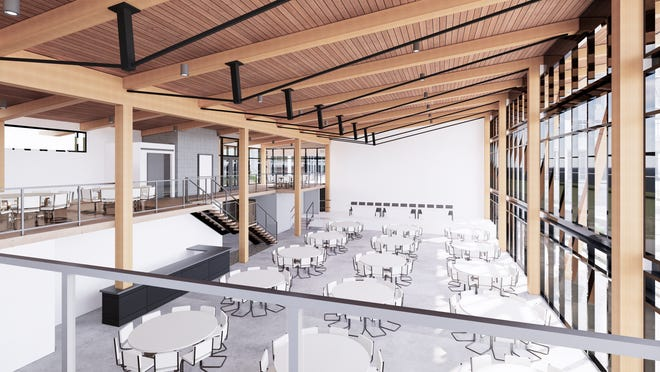 RiverHeath's event space, currently under construction, can host concerts, events and meetings. The $5 million building is along the Fox River in Appleton.