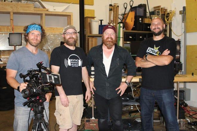 From left are Brad Seidenfeld, Jon Locker, Jerry Lorenson and Tony Bohnenkamp of DSMTV Live