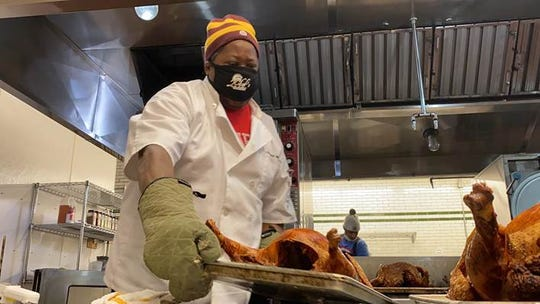 Chef Phil Jones of Farmacy Food and his team made meals to feed 1,000 needy families this week.