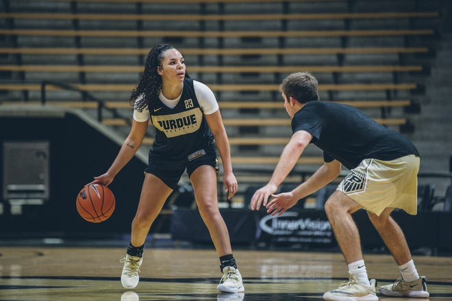 Purdue junior point guard Kayana Traylor