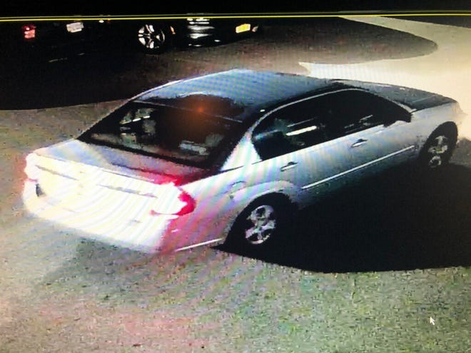 Police believe this early 2000s silver Chevy Malibu may be involved in a shooting in Holt Nov. 23, 2020.