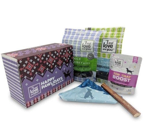 I and love and you's Holiday Gift Box makes the perfect present for your four-legged friends.