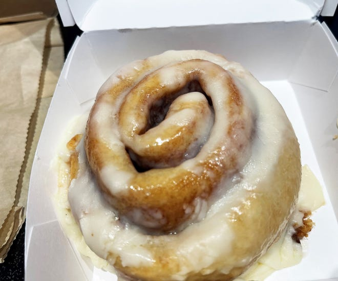 The cinnamon roll from McDonalds, Marco Island.