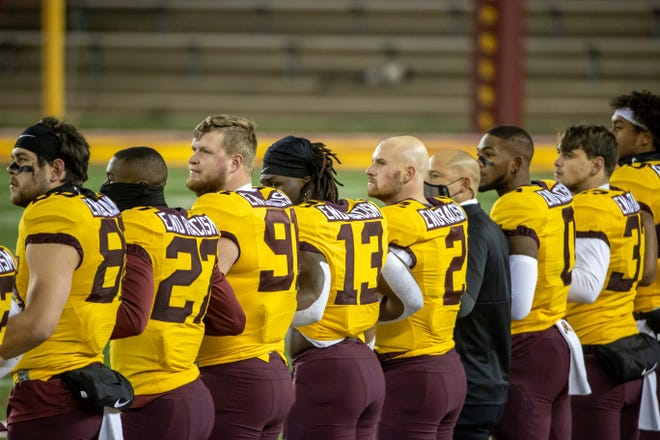 Minnesota's football team has been dealing with rising COVID-19 numbers and canceled practice Tuesday.