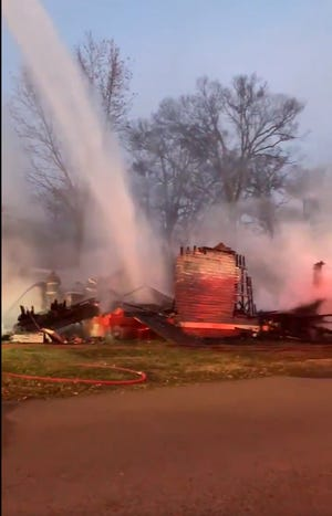 Nashville Fire Department officials are asking people to avoid several streets in East Nashville as crews battle a house fire on Petway Avenue.