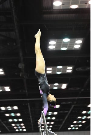 Halle Faulkner has been a gymnast since she was 3.