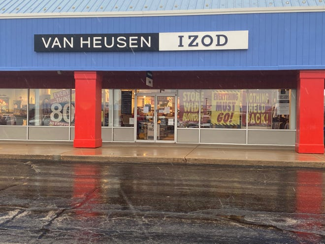 Van Heusen at the Shops at Oshkosh will close permanently by December 24, 2020.