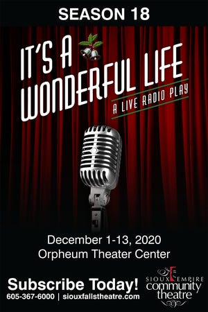 It's A Wonderful Life - A Live Radio Play will show at the Orpheum Theater Center from Dec. 1 to Dec. 13. The play is suitable for all ages.