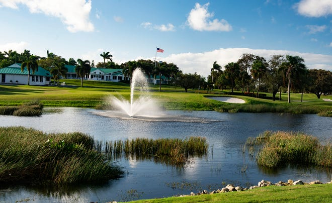 The ninth hole at the Yacht & Country Club in Stuart. The course recently was renovated by master course architect Tom Pearson.
