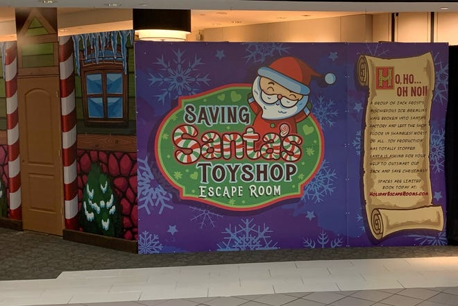 "Holiday Escape Rooms will offer a family-friendly, Christmas-themed escape room, ""Saving Santa's Toy Shop"" from Nov 27 to Jan. 31 at Cumberland Mall in Vineland."