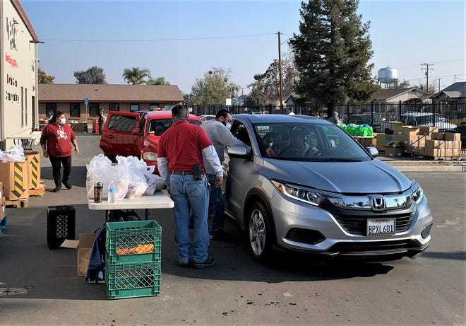 The Visalia Emergency Aid Council assisted about 500 families with Thanksgiving food boxes on Monday and Tuesday. The coronavirus pandemic has created an increased demand for services this holiday season.