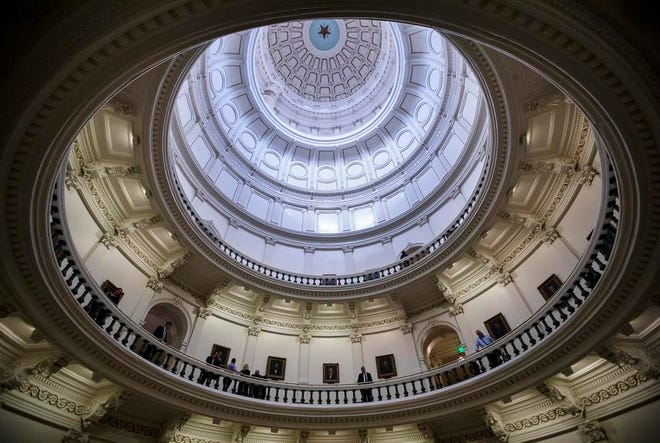The rotunda at the state Capitol.