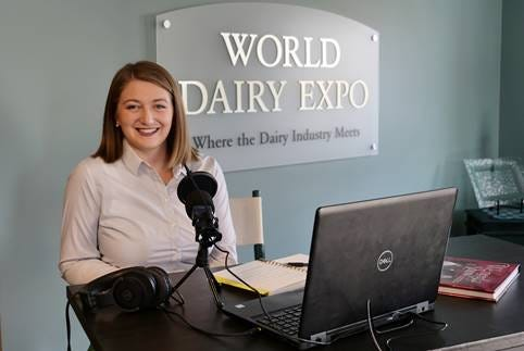 WDE Communications Manager, Katie Schmitt, hosts World Dairy Expo's new podcast, The Dairy Show.