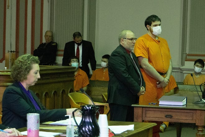 Brett Bailey is sentenced by Judge Mark Fleegle in Muskingum County Common Pleas Court.