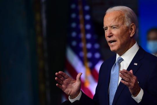 President-elect Joe Biden on Nov. 24, 2020 in Wilmington, Delaware.