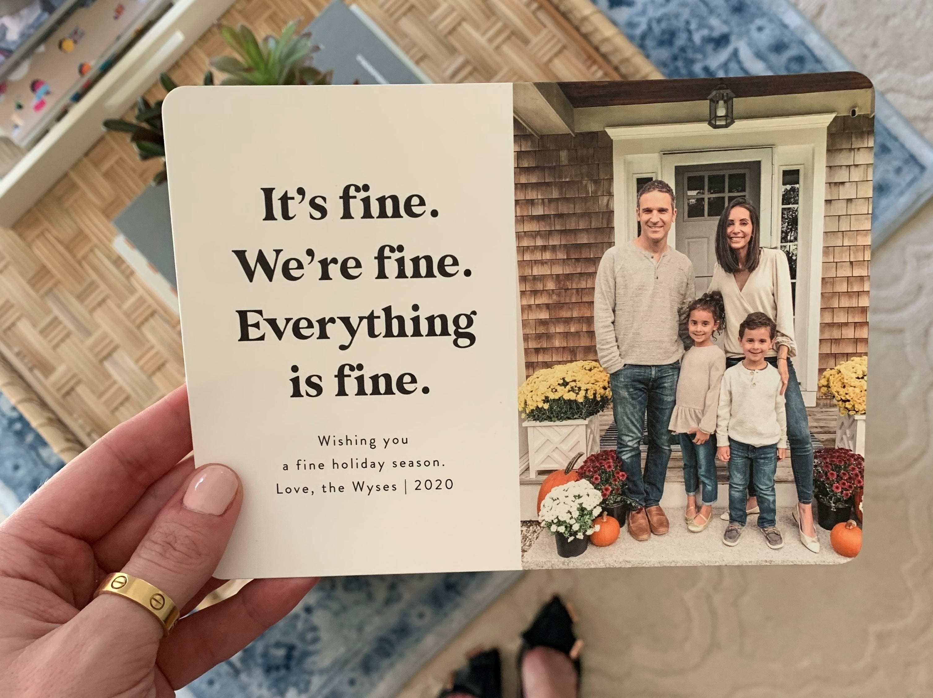 2020 Holiday Cards Sure Are Honest Wishing You A Fine Holiday Season