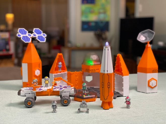 The Circuit Explorer keeps kids engaged with easy-to-connect circuit-building sets that light-up, twirl, and scoot-around.