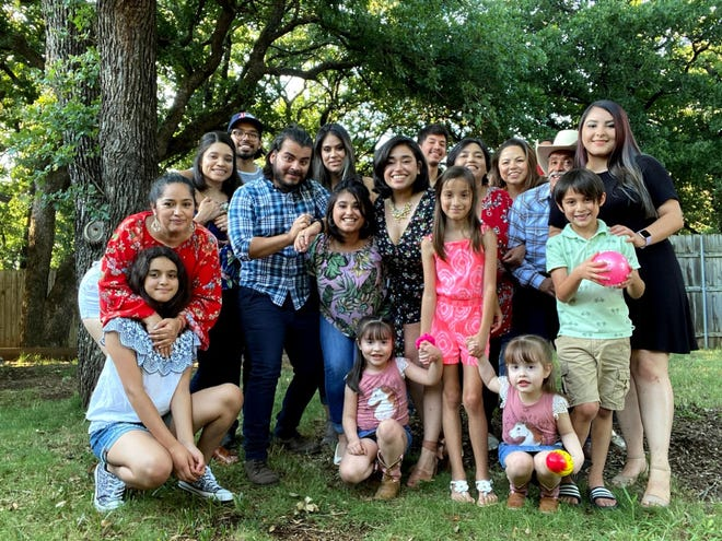 Alexa Aragonez says more than a dozen members of her family were sickened with COVID-19 after a family gathering on November 1. Members of her family are pictured here at a previous gathering.
