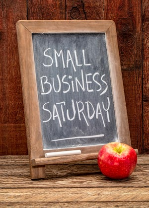 A Small Business Saturday sign.